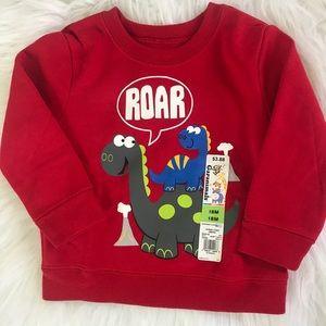 Baby Boy 18 Month Red dinosaur sweater